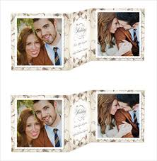 collage wedding invitations 19 trifold wedding invitation templates free sample example