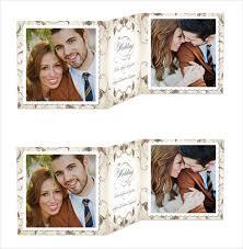 Collage Wedding Invitations 19 Trifold Wedding Invitation Templates Free Sample Example
