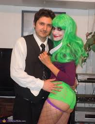 my serious husband with his joker wife the joker costume