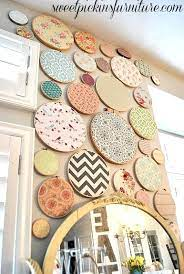 embroidery hoop wall