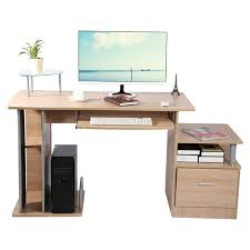 home computer desk office desk modern desktop computer workstation writing desk with storage rack furniture study desk