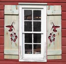 Hummingbird and Flower Shutters
