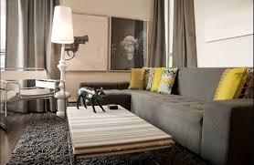 walls grey couch living