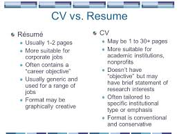 Resume Vs Cv Awesome Marvelous Resume Versus Cv About Curriculum Vitae Vs Resume Krida