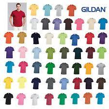 Gildan Color Chart 5000 Gildan 5000 Heavy Cotton Short Sleeve T Shirt S L More