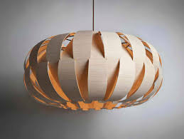 Furniture Accessories:Round Shaped Wood Hanging Pendant Lighting As Well As  Cool Wooden Lighting Fixtures