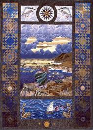 92 best Fantasy & fairytale quilts images on Pinterest | Fairy ... & Captain's Wife fantasy art quilt by Helene Knott Adamdwight.com