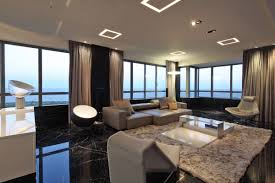 lighting for apartments. Open Plan Living, Rug, Modern Lighting, Apartment In Buenos Aires, Argentina Lighting For Apartments T