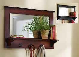 entryway mirror with coat hooks cool within entry designs 8