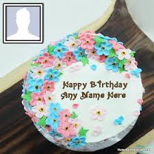 Free Birthday Cake With Name And Photo Editor Online Name Happy