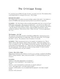 Critical Essay Examples Tips In Writing Your First Critical Essay ...