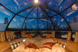 Glass Igloo Northern Lights You Can Rent A Glass Igloo In Finland To Watch The Northern