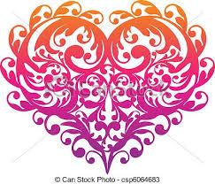 decorative ornamental heart vector csp6064683