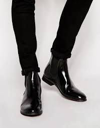 black leather chelsea boots shoe the bear high shine chelsea boots