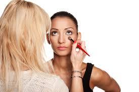 cheer makeup application