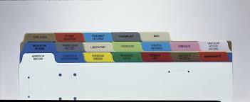 Patient Chart Tabs Divider Sets Medline Industries Inc