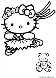 Disegni Per Dipingere Colour Ciao Kitty Stampare Realizzazione 016