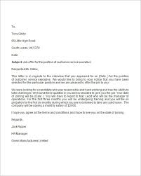 Formal Job Offer Template How To Write Job Offer Letter Sample Format Template For
