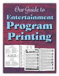 Program Printing Sports Dance Events Printingcenterusa