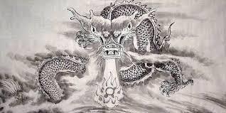 chinese dragon painting 55cm x 108cm 4740001 x