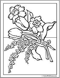Floral Coloring Pages 102 Flower Customize And Print Pdf