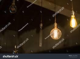 Light Bistro Light Bulb Vintage Style Decorated General Stock Image