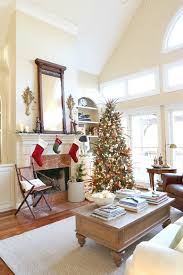 Savvy Southern Style Christmas Great Room with New Arrangement