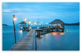 resort bar ocean ultra hd desktop