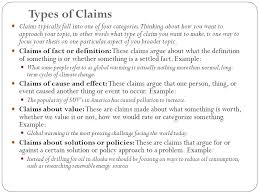 the thesis statement a roadmap for your essay ppt video online types of claims