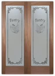 glass etched pantry door frosted pantry door design decoration