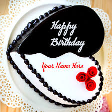 Heart Shape Birthday Cake With Your Name My Name Pix India