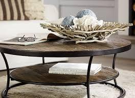 pottery barn coffee table decor