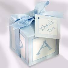 baby shower gift card box blue baby blocks favor bo boy favors diy