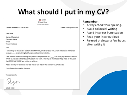 ... What Should I Put On A Cover Letter 2 To Cv Director ...