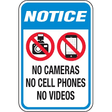 Notice No Camera Cell Phone Video Signs Seton