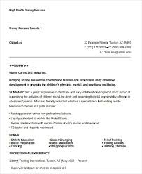 Gallery Of Nanny Resume Examples Nanny Resume Template Nanny