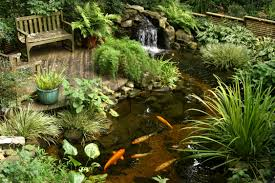 garden ponds. Garden Beautiful Fish Pond Design With Waterfall And Mini Ponds