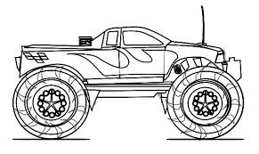 Free Printable Truck Coloring Pages Grave Digger Monster Truck