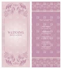 Wedding Invitations Templates Purple Ornate Violet Wedding Invitation Template Vector Illustration Of