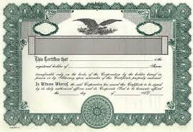 Stock Certificate Template Pin By E Gor On Stocks Certificate Certificate Templates Templates