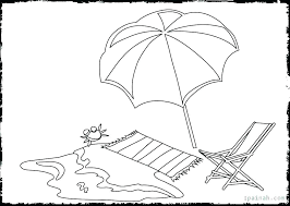 summer coloring book beach color pages umbrella umbr