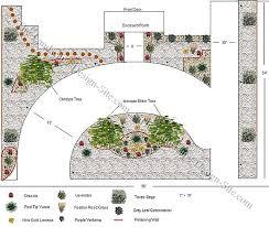 circular driveway design on a hillside