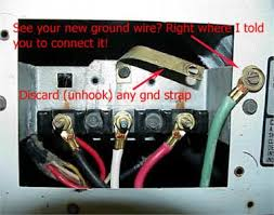 mde7400ayw electric cord replacement fixya yours probably does not have a ground strap though yours uses that green yellow wire for frame