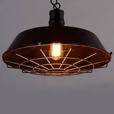 pendant lighting fixture. Image Is Loading Vintage-Industrial-Iron-Cage-Pendant-Light-Lamp-Kitchen- Pendant Lighting Fixture