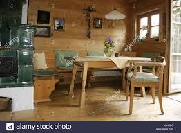 Wohnraum Kachelofen Zimmer Bauernstube Küche Wohnraum