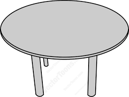 round table clipart black and white. top view of a round table cartoon clipart black and white