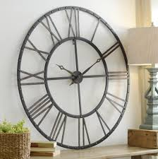 Country Kitchen Wall Clocks 30 In Wall Clock White Oversized Wall Clock Rustic Wall Clock