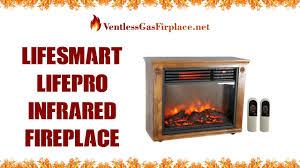lifesmart lifepro infrared fireplace heater ventless gas