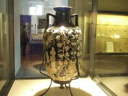 hge08 pompeii blue vase from tomb side 4 view now in naples archaeological
