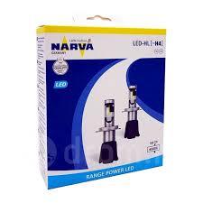 Светодиодные <b>лампы Narva</b> H4 <b>Range Power</b> LED 6000K ...